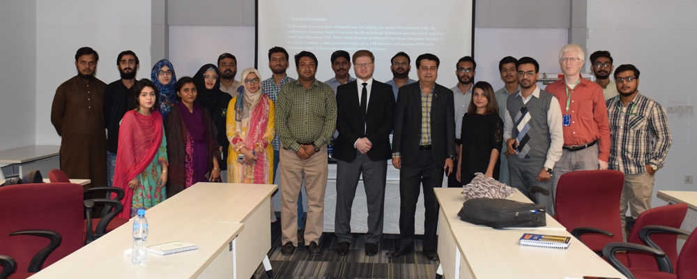 Guest Speaking Session with Mr. Kashif Badar, Advocate at High Court- Specialist in Corporate and Constitutional Law: